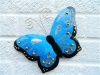 Metal Butterfly Wall Art - Blue - Set of 3