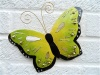 Metal Butterfly Wall Art - Green - Set of 3