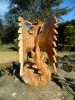 Wooden Dragon Carving-  Dragon With Wings