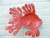 Metal Wall Art Fish - Red Face