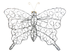 Silver Wire Butterfly Wall Art - Large