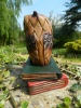 Wooden Owl Carving - Owl on Book