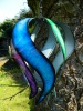 Metal Wind Spinner - Blue/Purple/Green