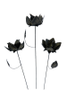 Metal Rose on 1m Stick - Set of 3 - Gold