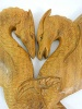 Wooden Dragon Plaque - Entwined Dragons