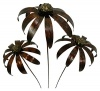 Metal Echinacea on 1m Stick - Set of 3 - Bronze