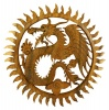 Wooden Dragon Plaque - Large Circle Dragon