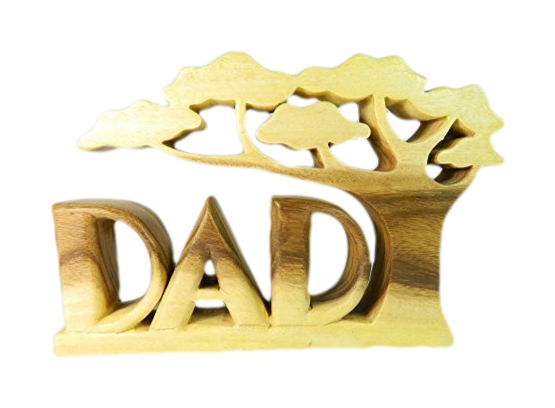 Wooden Word Art - Dad