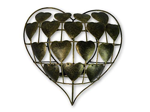 Metal Heart Tea- Light Holder/ Sconce- Gold