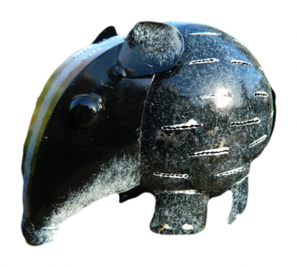 Metal Standing Animal Tealight Holder - Badger