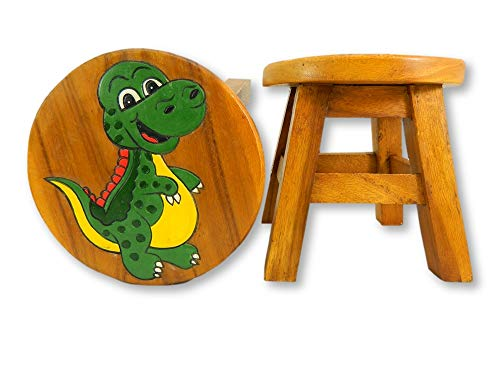Childrens Wooden Stool - Baby T Rex