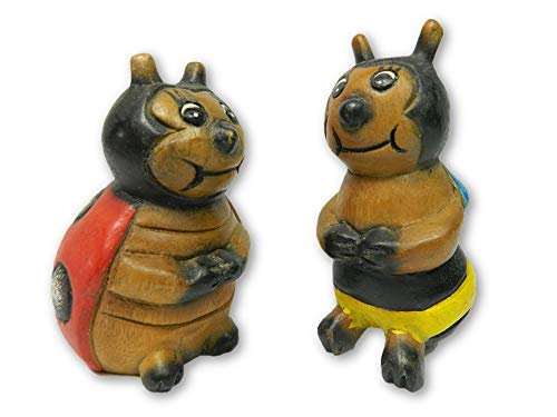 Wooden Pair Of Animals - Pair of Ladybird and Bee