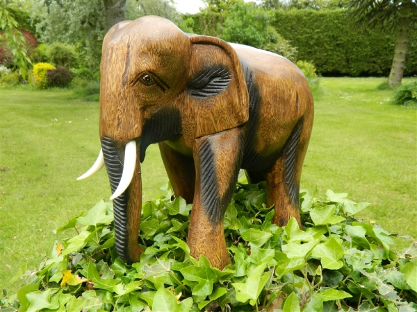Wooden Elephant Carving - Walking Elephant
