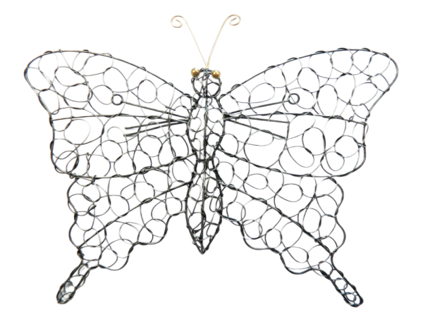 Silver Wire Butterfly Wall Art - Small