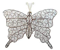 Copper Wire Butterfly Wall Art - Large