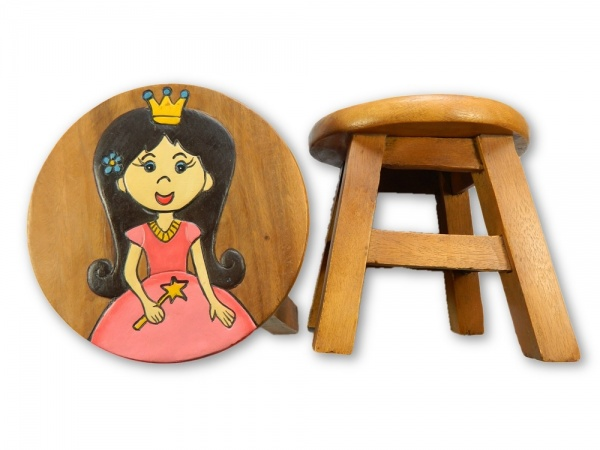 Childrens Wooden Stool - Fairy Princess