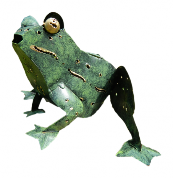 Metal Standing Animal Tealight Holder - Frog