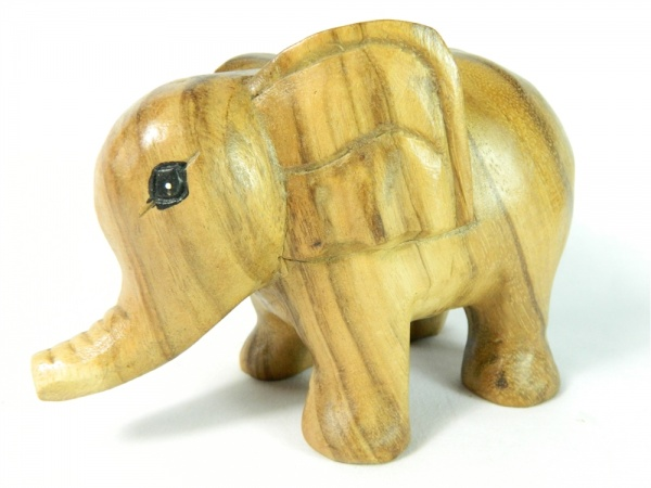 Wooden Elephant Carving - Cute Elephant