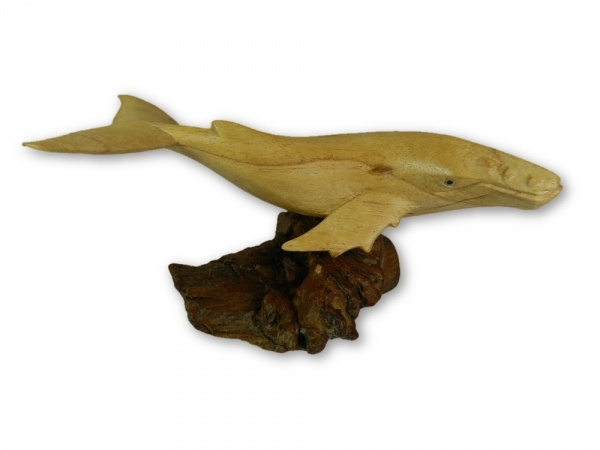 Hand Carving Wooden Humpback Whale - 30cm