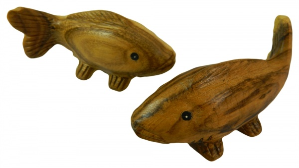 Wooden Pair Of Animals - Pair of Koi Fish