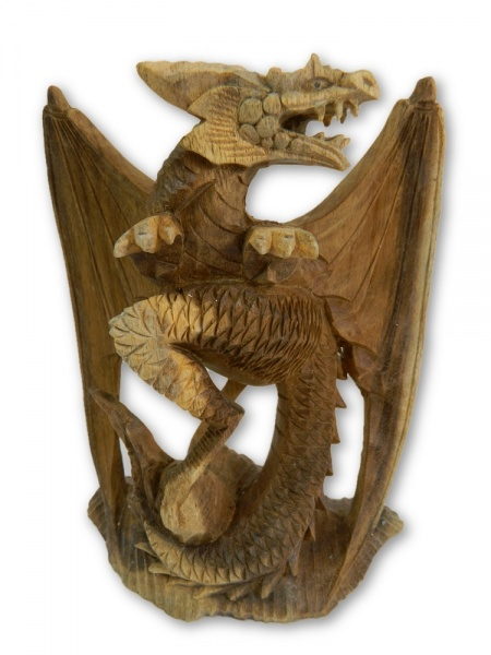 Wooden Dragon Carving- Dino Dragon