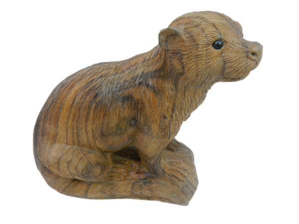 Wooden Otter Carving - Collection Only