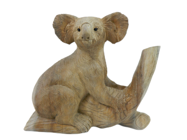 Wooden Koala Carving - Collection Only