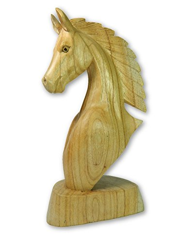 Wooden Horse Carving - Horse Head 30cm