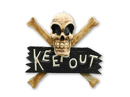 Pirate Skull And Crossbone Hanging Keep Out Sign - Skull