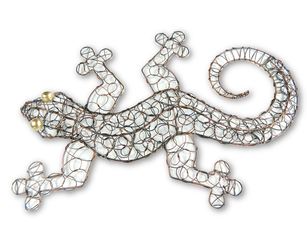 Copper Wire Wall Art - Gecko