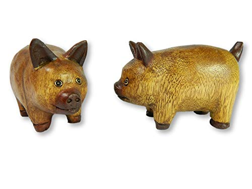 Wooden Pair Of Animals - Pair of Piglets
