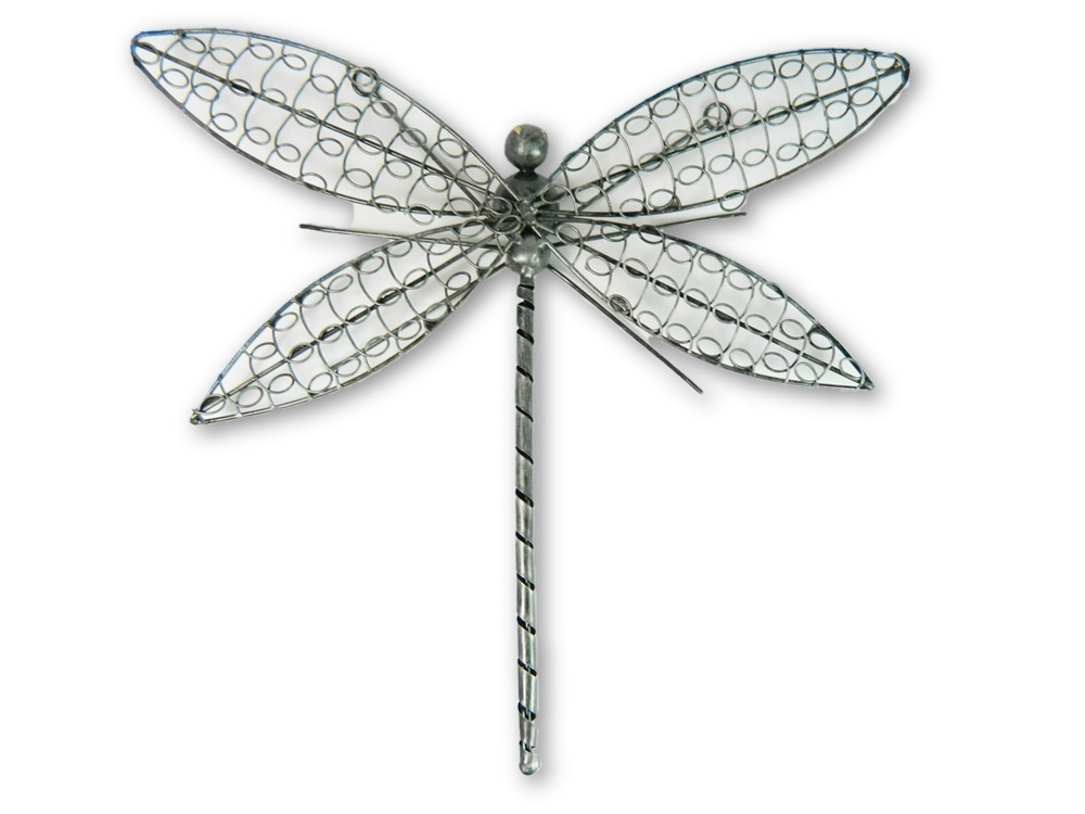 Silver Wire Dragonfly Wall Art - Extra Large