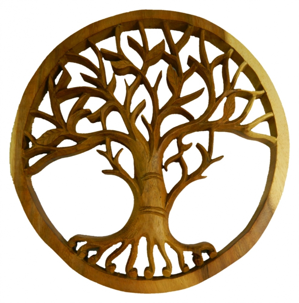 Wooden Tree Of Life Plaque -  Tree Of Life