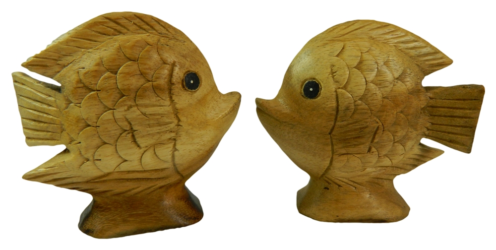 Wooden Pair Of Animals - Pair of Tropical Fish