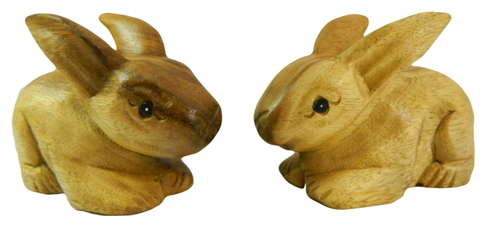 Wooden Pair Of Animals - Pair of Baby Rabbits