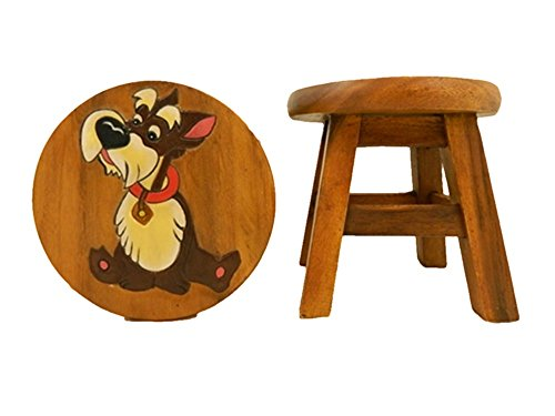 Childrens Wooden Stool - Dog