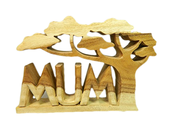 Wooden Word Art - Mum