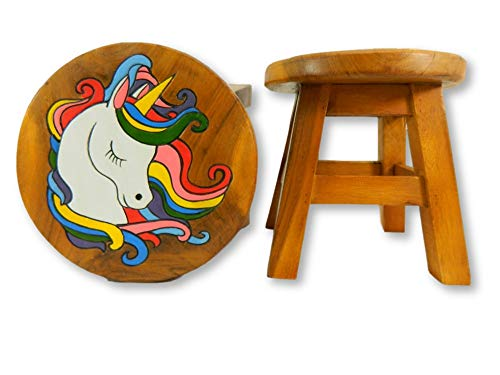 Children's Wooden Stool - Unicorn Head