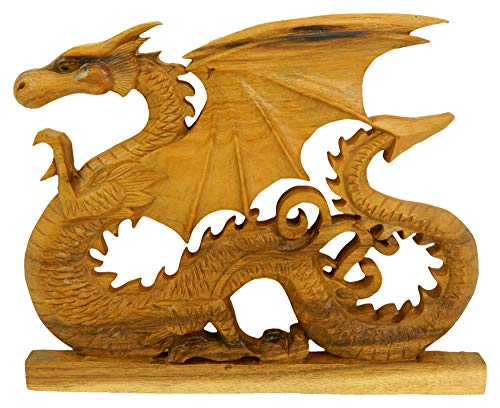 Wooden Dragon Plaque - Welsh Dragon